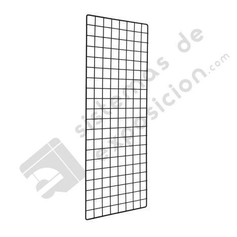 PARED DE REJILLA CON SOPORTES 1500x400mm NEGRO