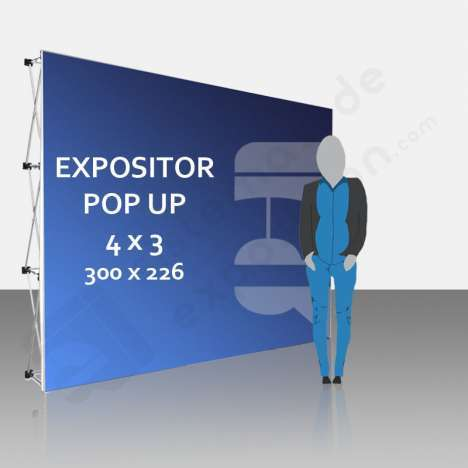 Expositor publicitario Pop Up 4x3 (300x226 cm)