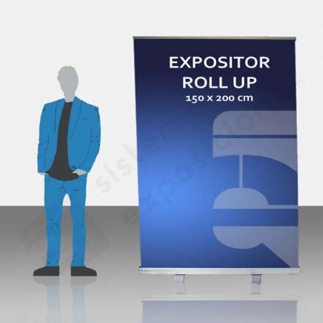 Expositor enrrollable roll up 1520x200cm