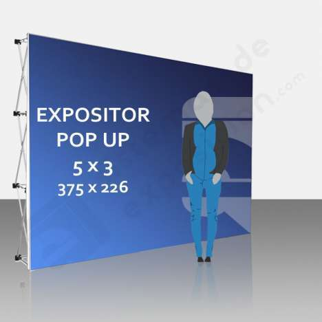 Expositor publicitario Pop Up 5x3 (375x226 cm)