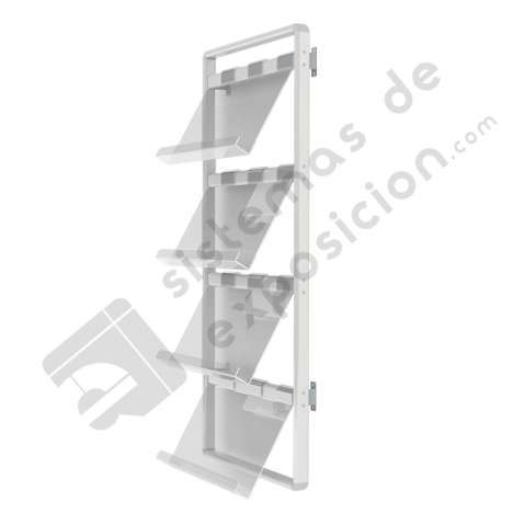 Porta catálogos pared 290 x 1450 x 620 mm