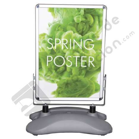 Portaposters base rellenable 150X780 MM