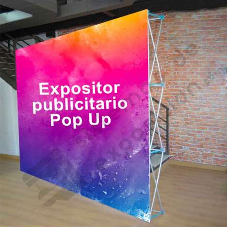 POP UP DE TELA 3x2 CON GRÁFICA FRONTAL